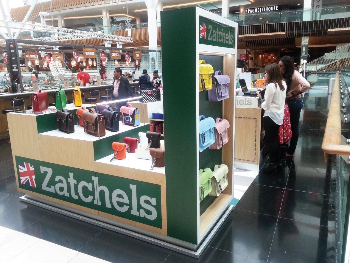 Zatchels Pop Up Shop Flooring At Westfield