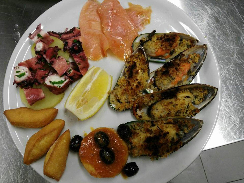 piatto assortito di pesce