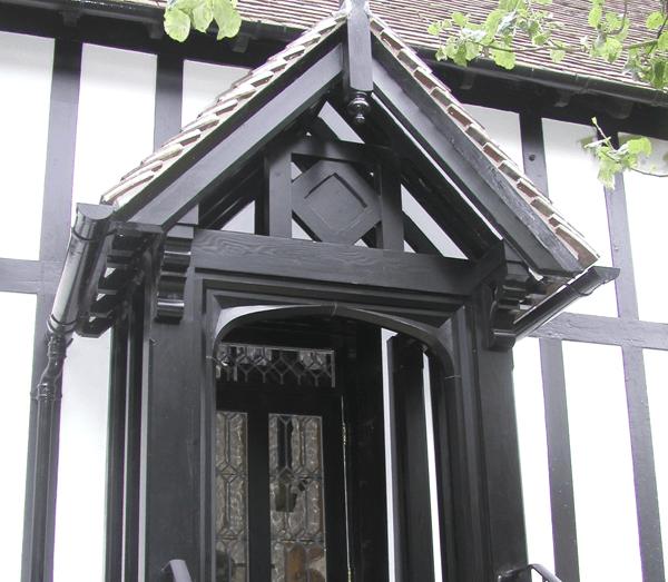 Black wooden porch