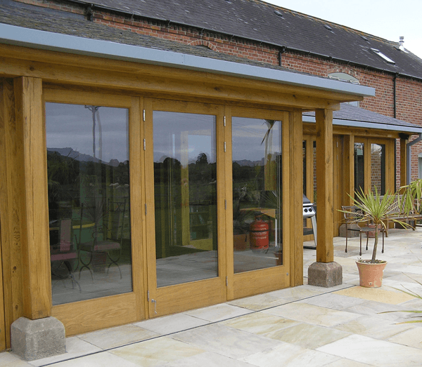 Completed wooden conservatory by AR Manley
