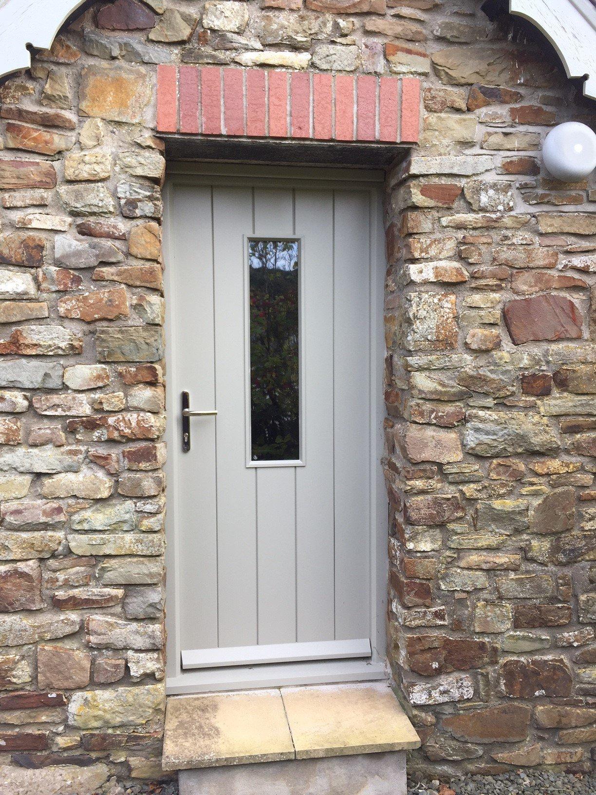 grey single door