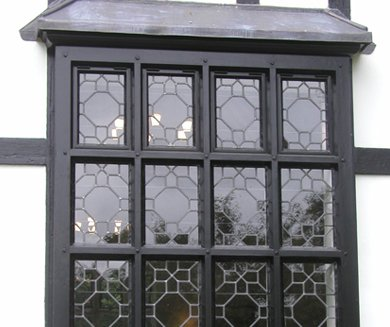 Black window made and installed by AR Manley
