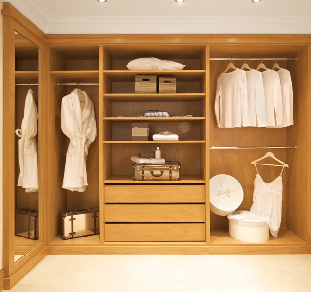 Inside of fitted wardrobe