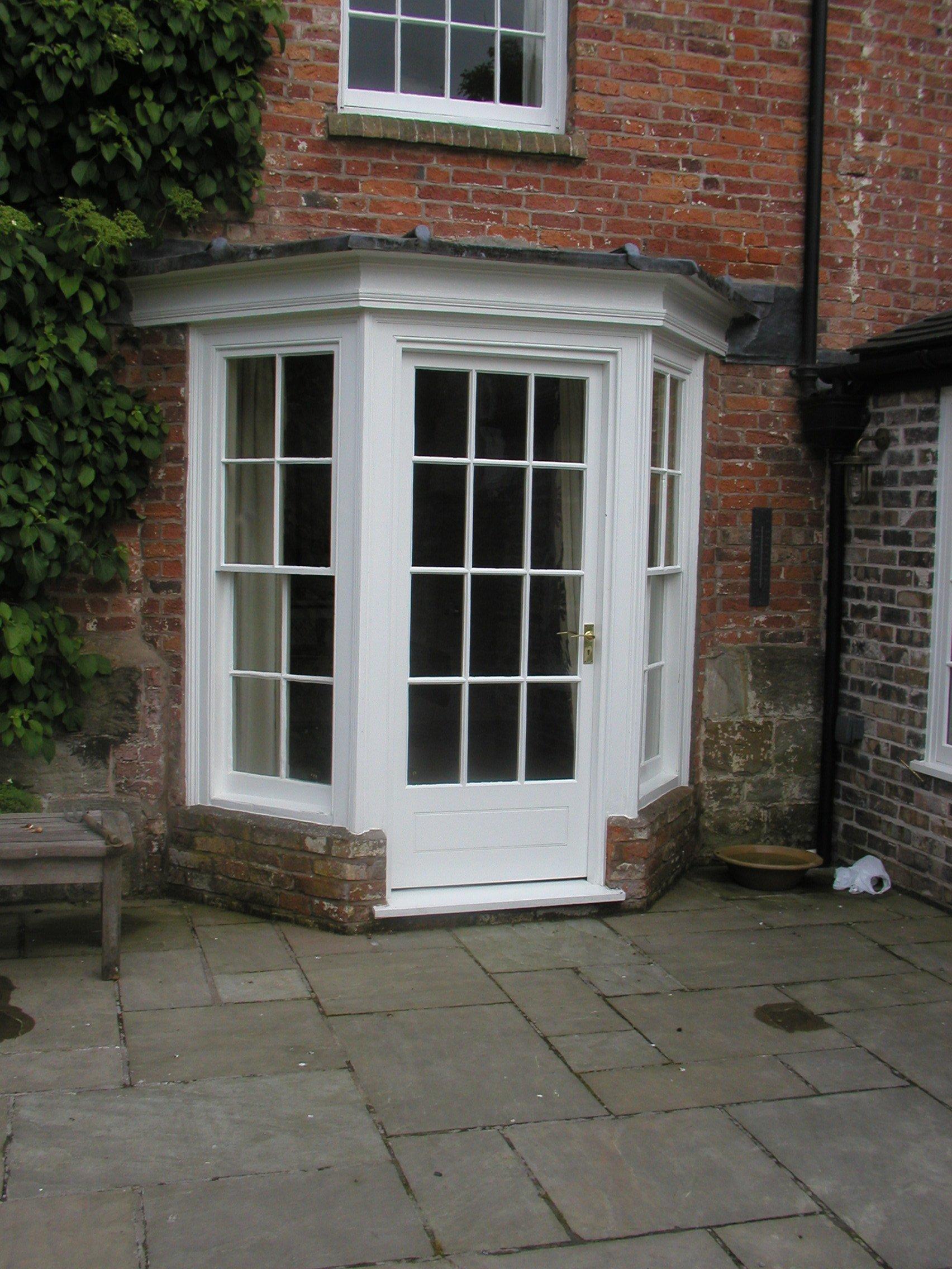 White doors and windows