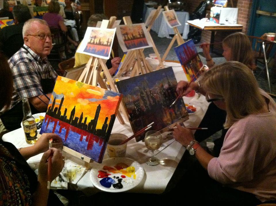 Two Steps Danbury Painting Class