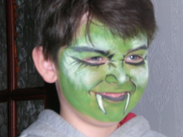 green face painting