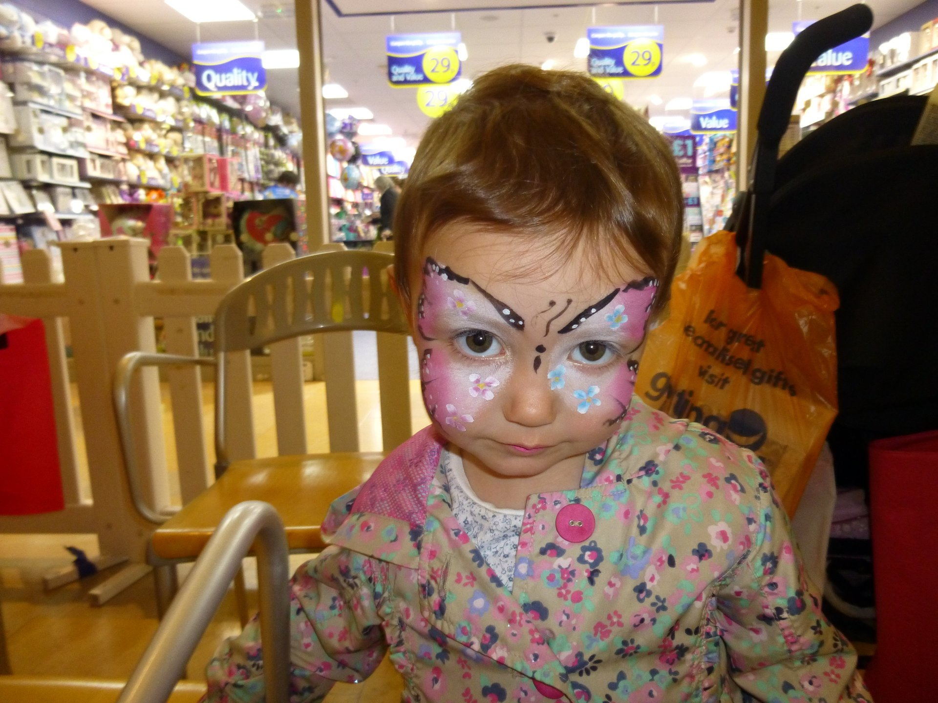 face painting on a little girl