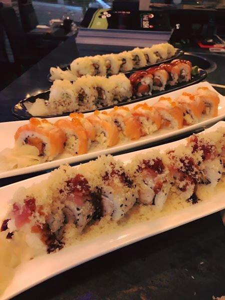 delle tartare di salmone,tonno e pesce spada
