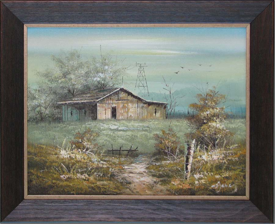 hall of frame country barn oil