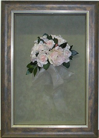 hall of frame framed flower boquet