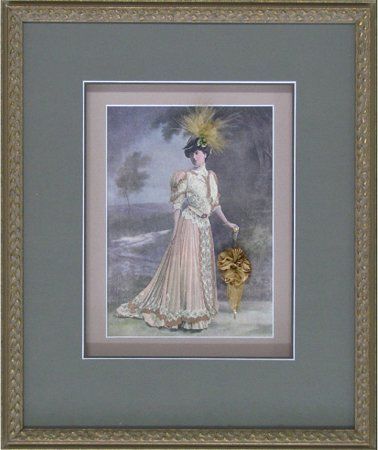 hall of frame painting in an ornate frame