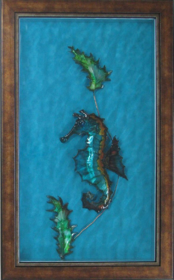 hall of frame seahorse with glass