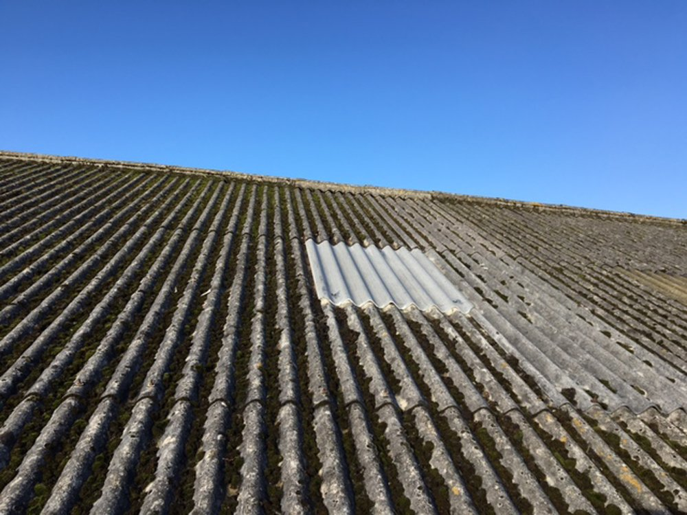 Repaired Roofing Sheets