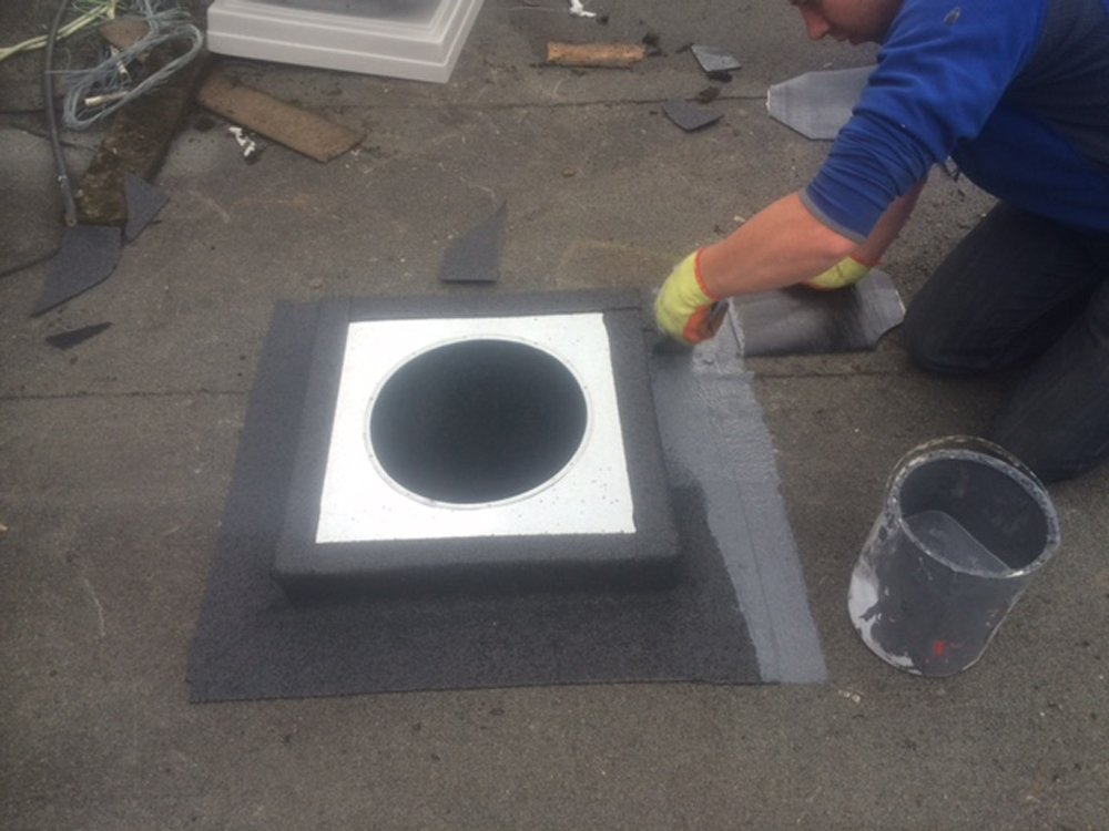 Retro Flat Roof  Flashing