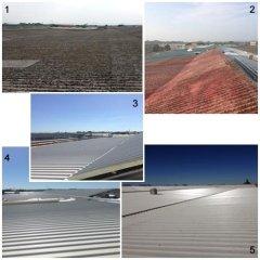 rifacimento tetto, pannelli coibentati