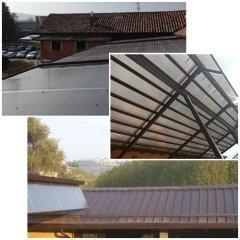 tetto in coppi piemontesi, tettoia in policarbonato