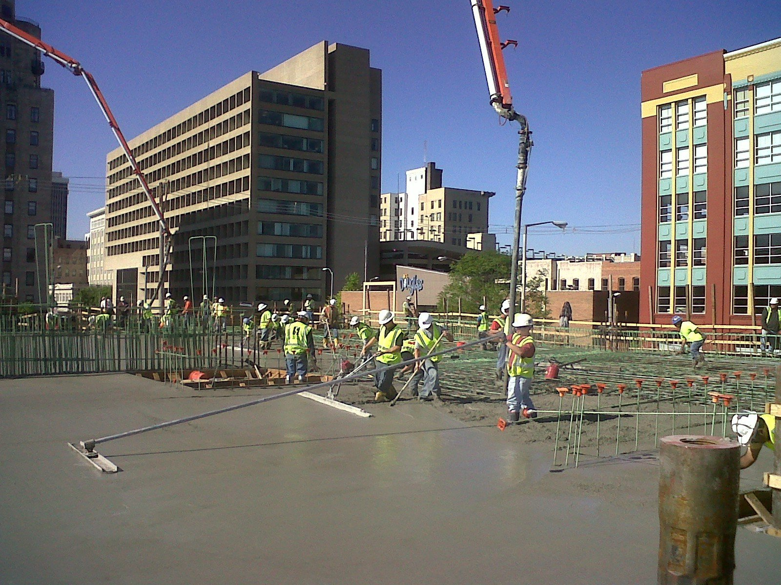 Experts working on concrete flat work in Lincoln, NE