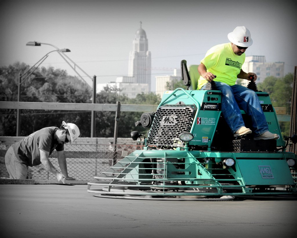High quality flat paving work in progress in Lincoln, NE
