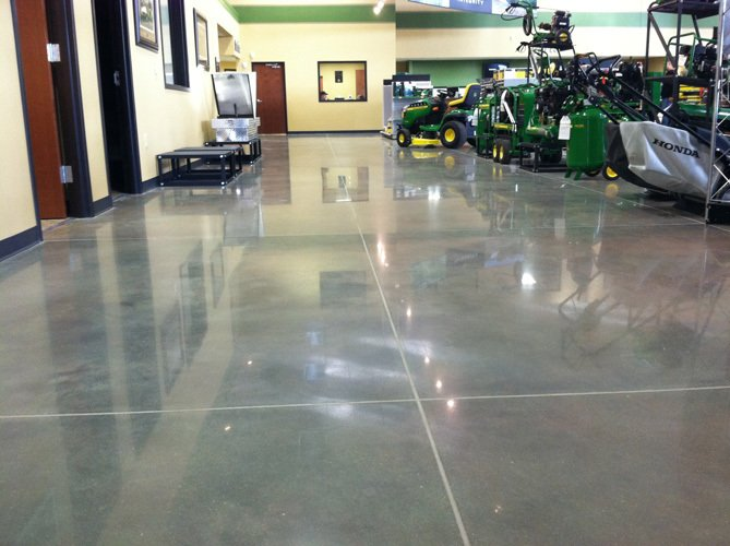 Polished concrete for commercial site in Lincoln, NE