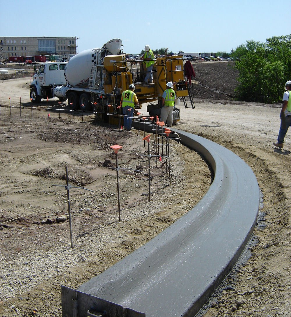 Concrete being poured at the site for flat work in Lincoln, NE