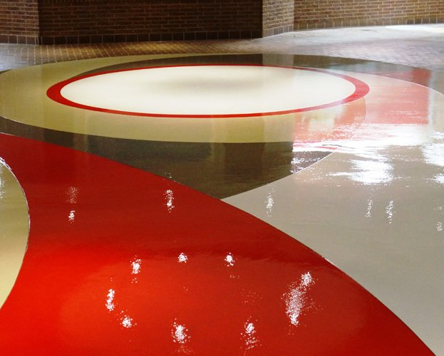 Commercial polished concrete work in Lincoln, NE