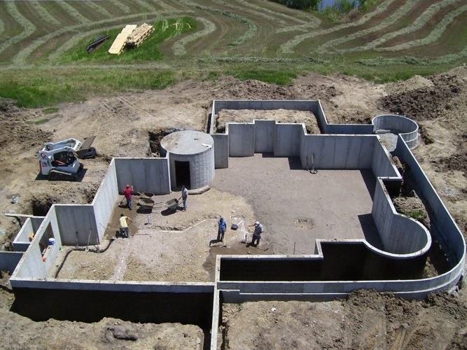 Residential building foundation in Lincoln, NE