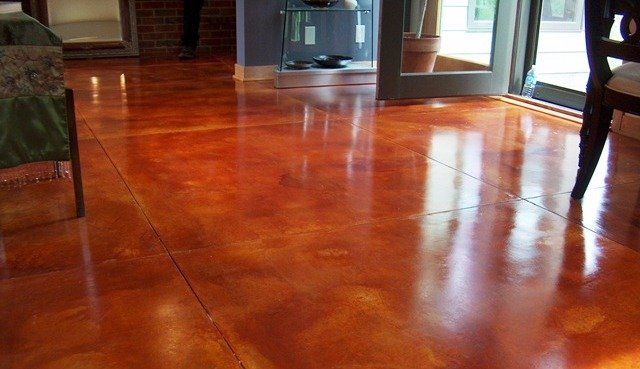 View of the floor with industrial coating in Lincoln, NE