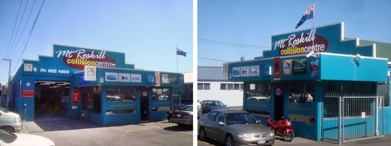 exterior of a vehicle restoration company in Auckland