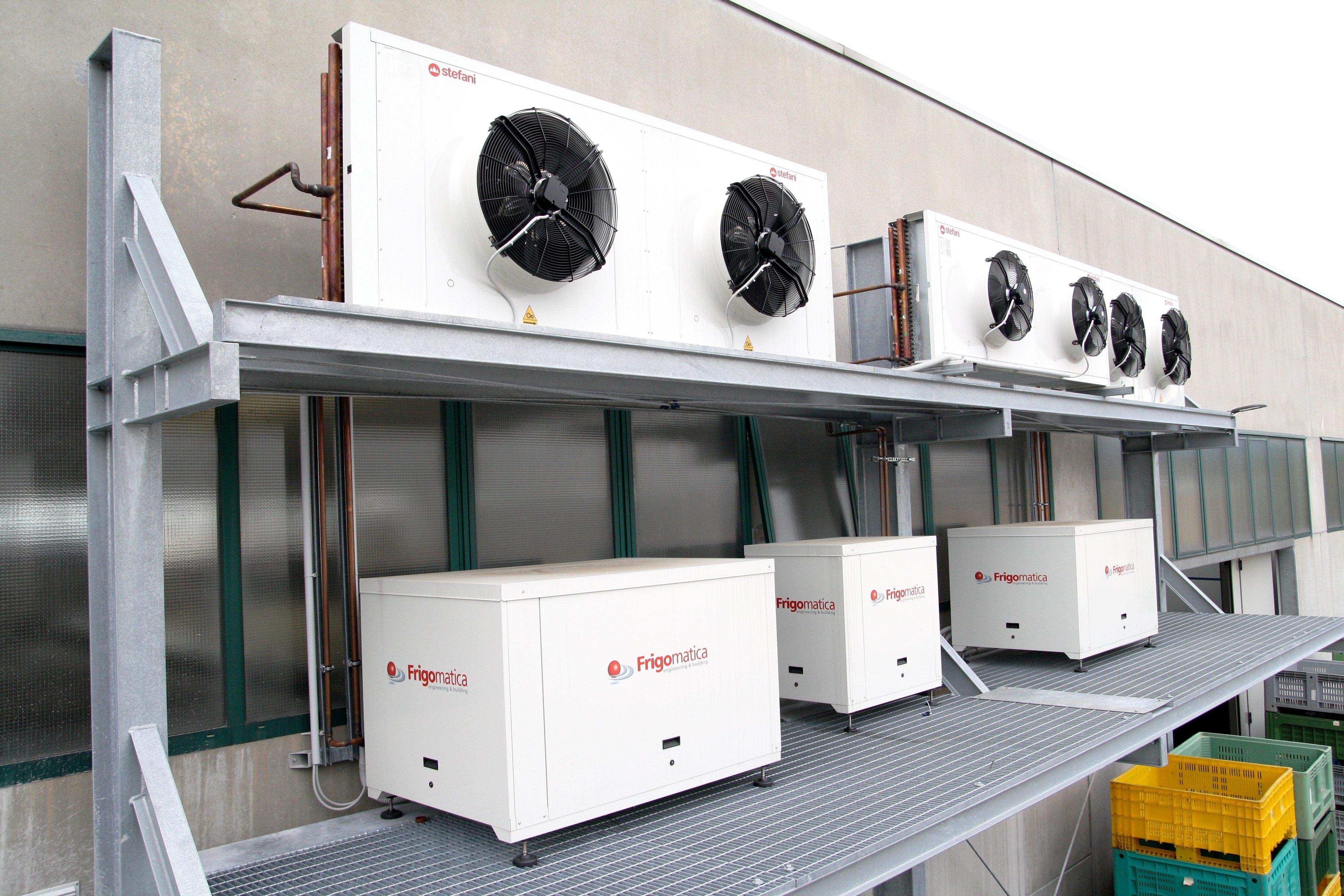 centrale frigorifera ventole