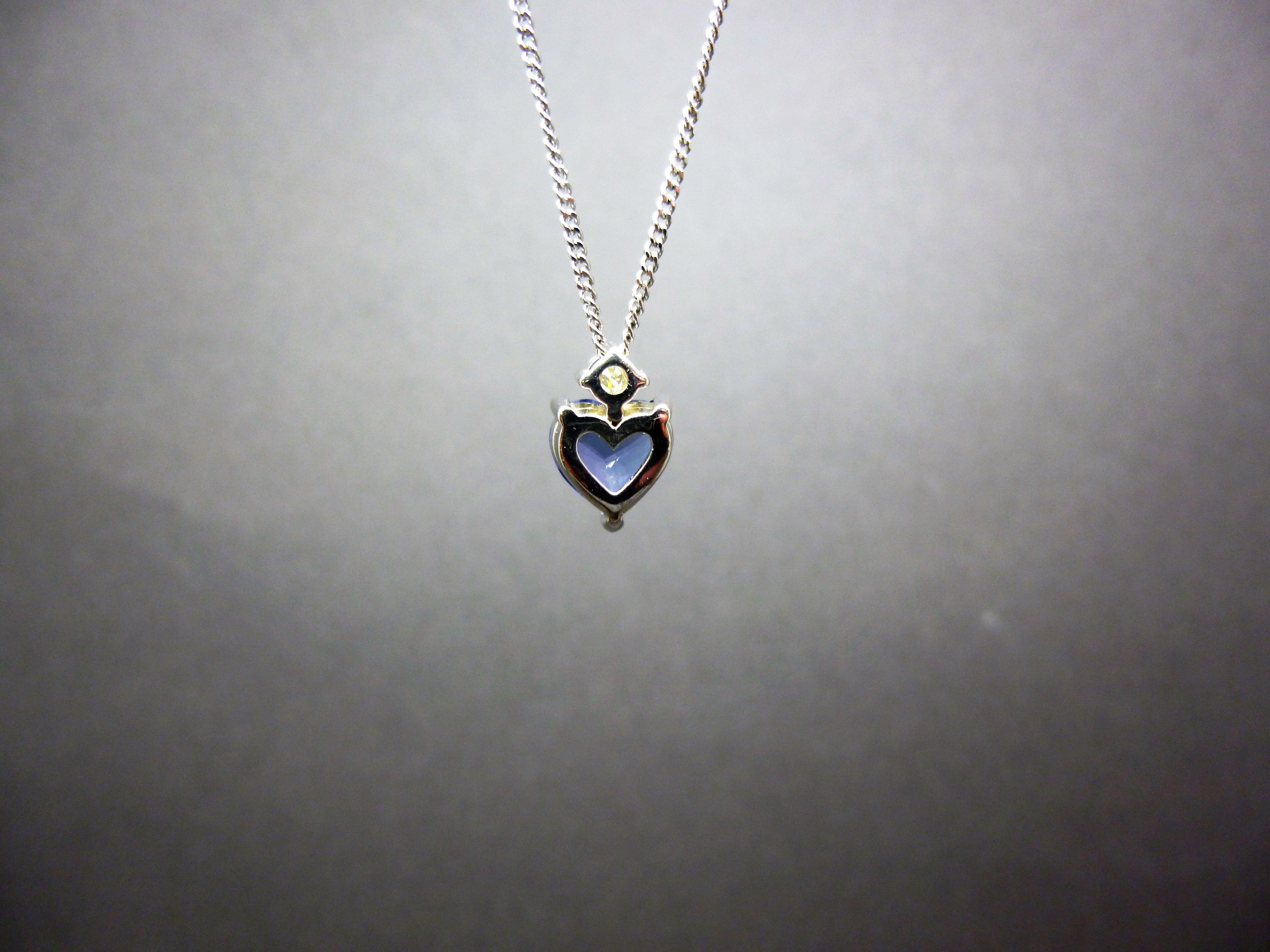 A stunning tanzanite and diamond pendant