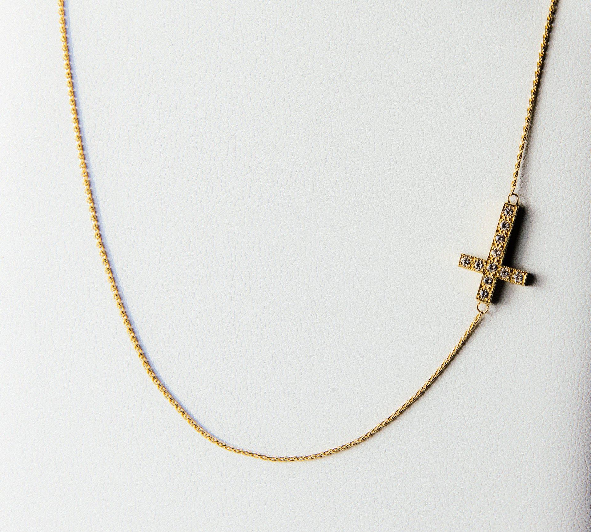 A cross pendant