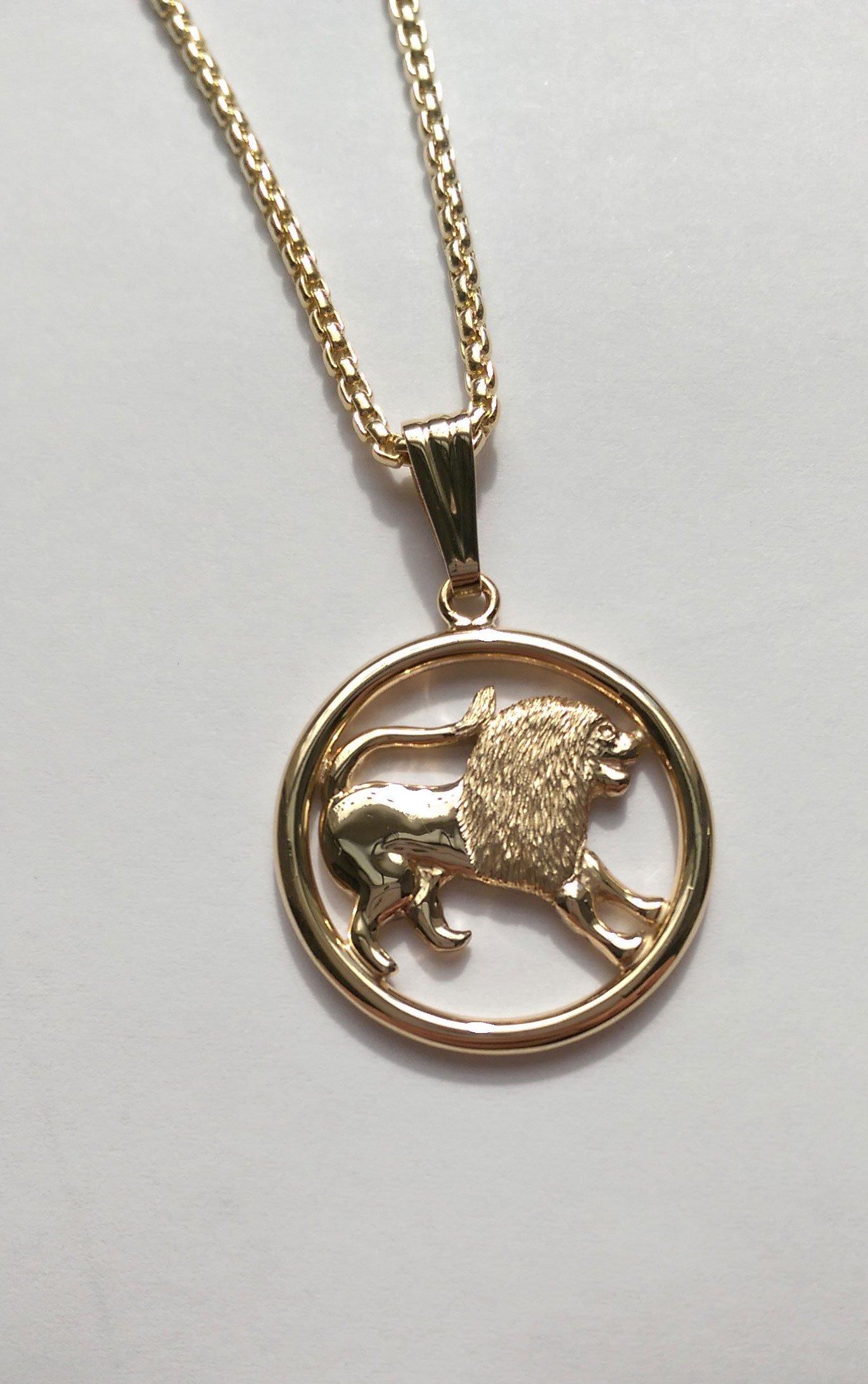 A lion pendant