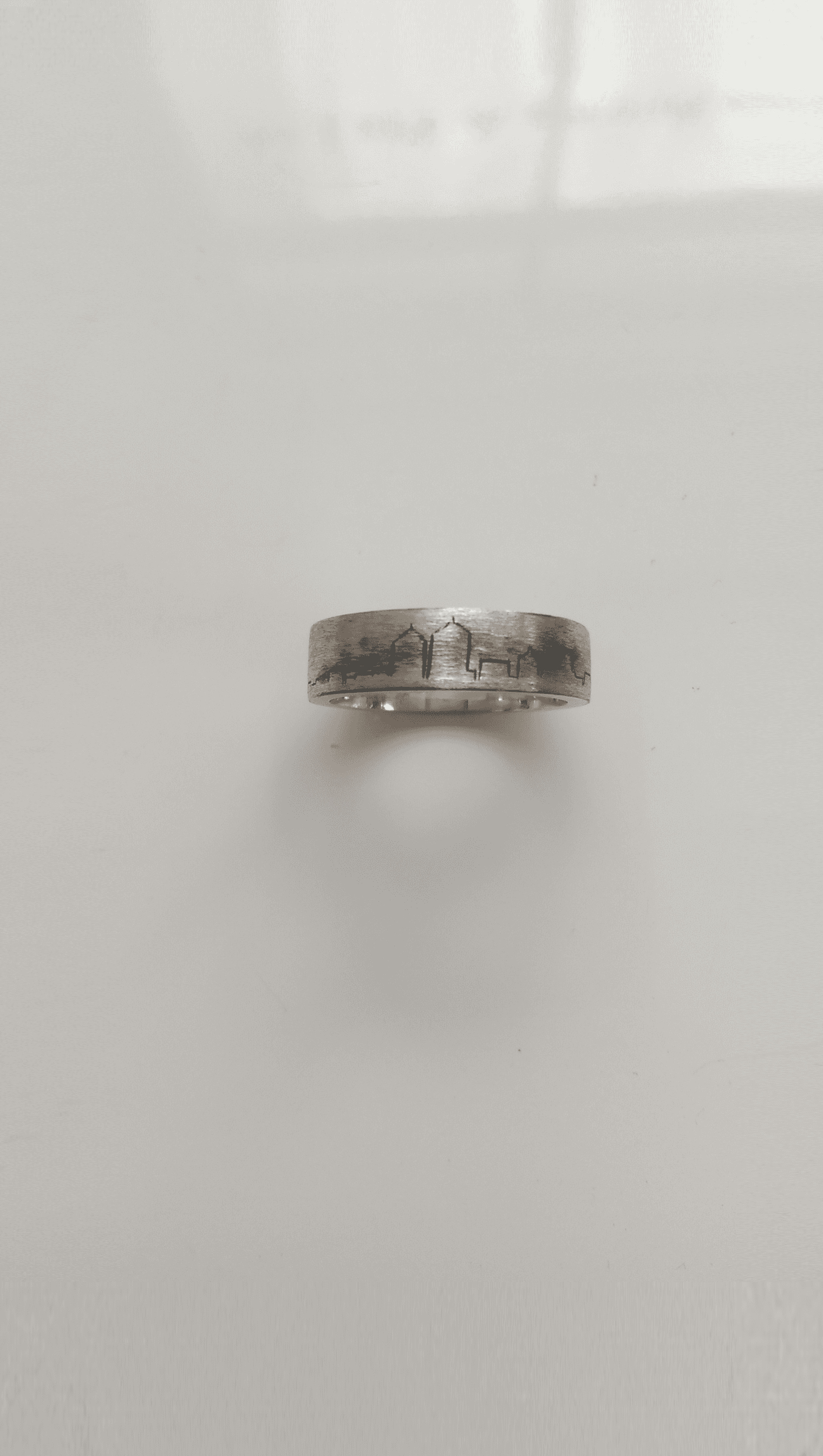 goldsmiths mccaul platinum gents bands wedding hammered rings