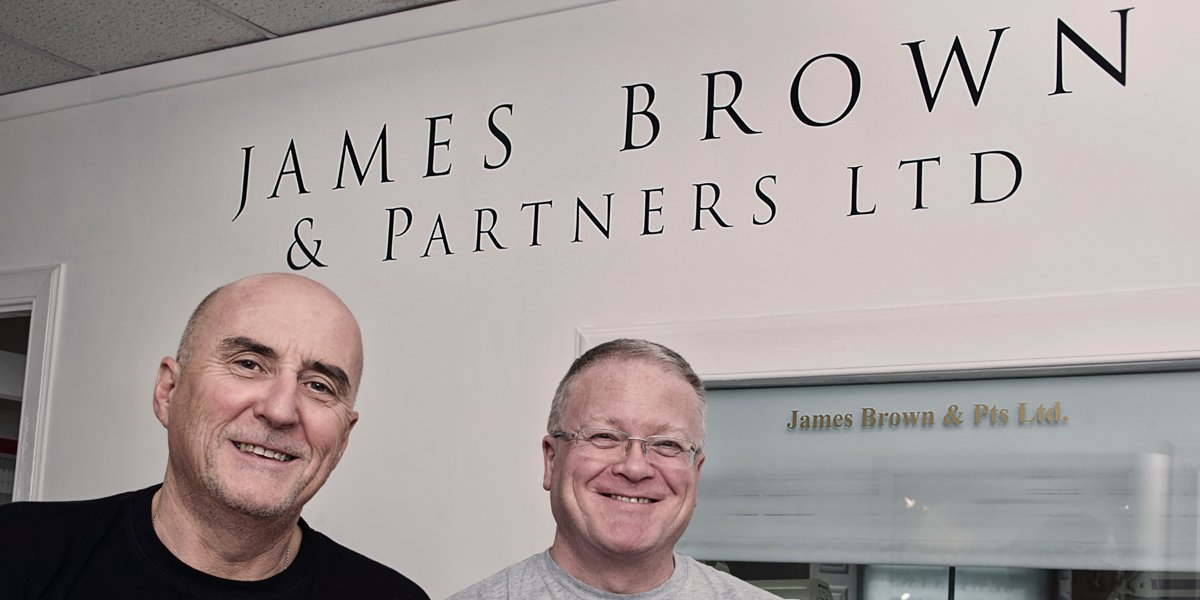 Neil Grant and Ewan Coffield, business owners of James Brown & Partners Ltd