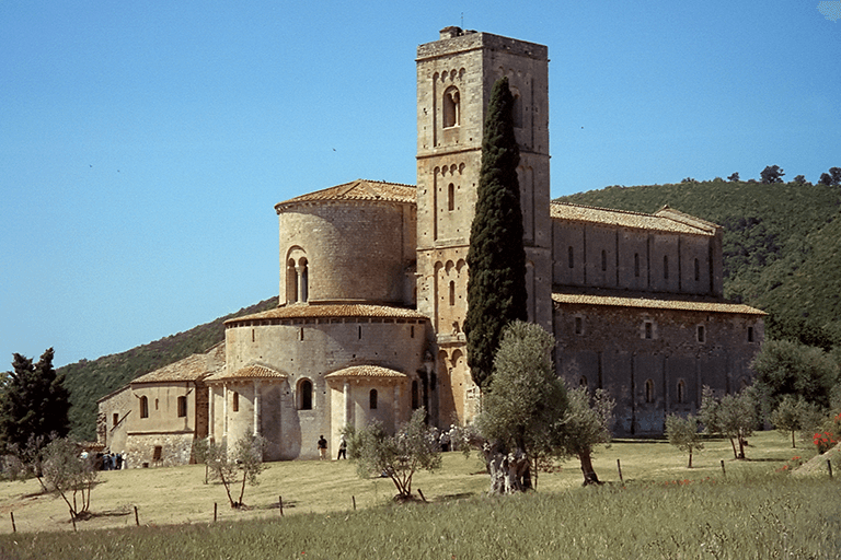 Saint Antimo Abbey in Montalcino