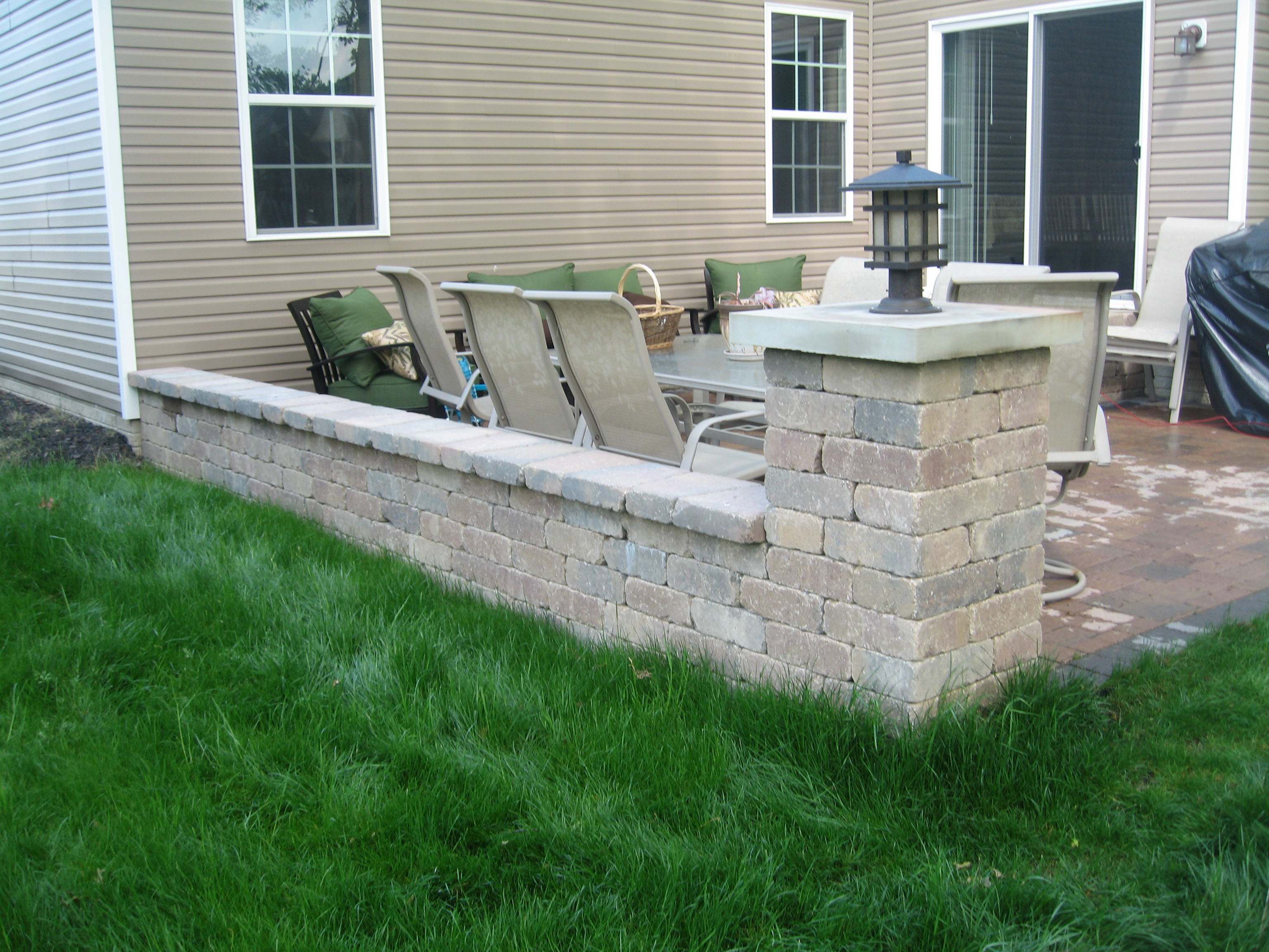 Beautifully created backyard by trusted landscapers in Lorain, OH