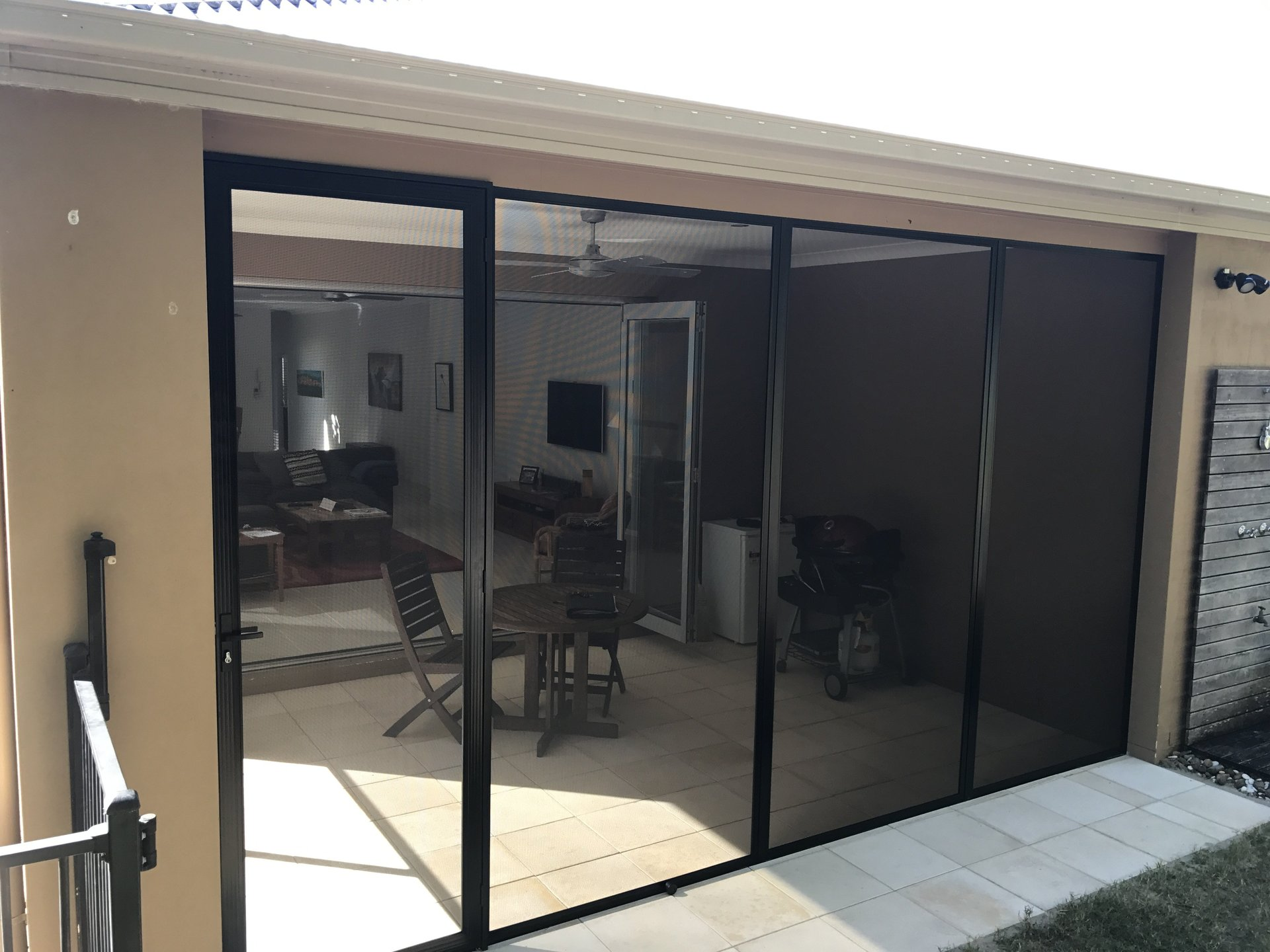 SecureView Stainless Steel Screened Patio Enclosure