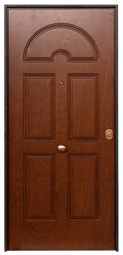 una porta in legno di color verde
