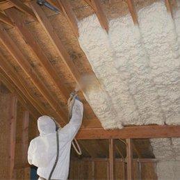 spraying foam insulation