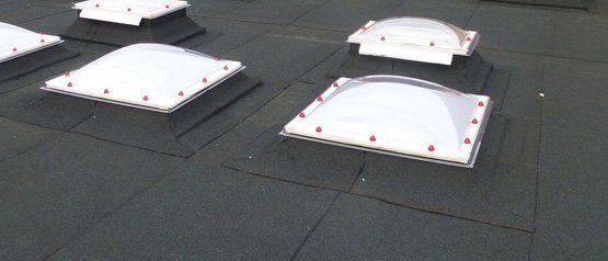 A flat roof fitted by Accurate Flat Roofing at Meppershall School