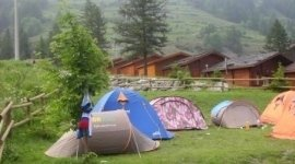 Tende nel campeggio
