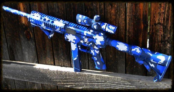 Custom Blue Camouflage