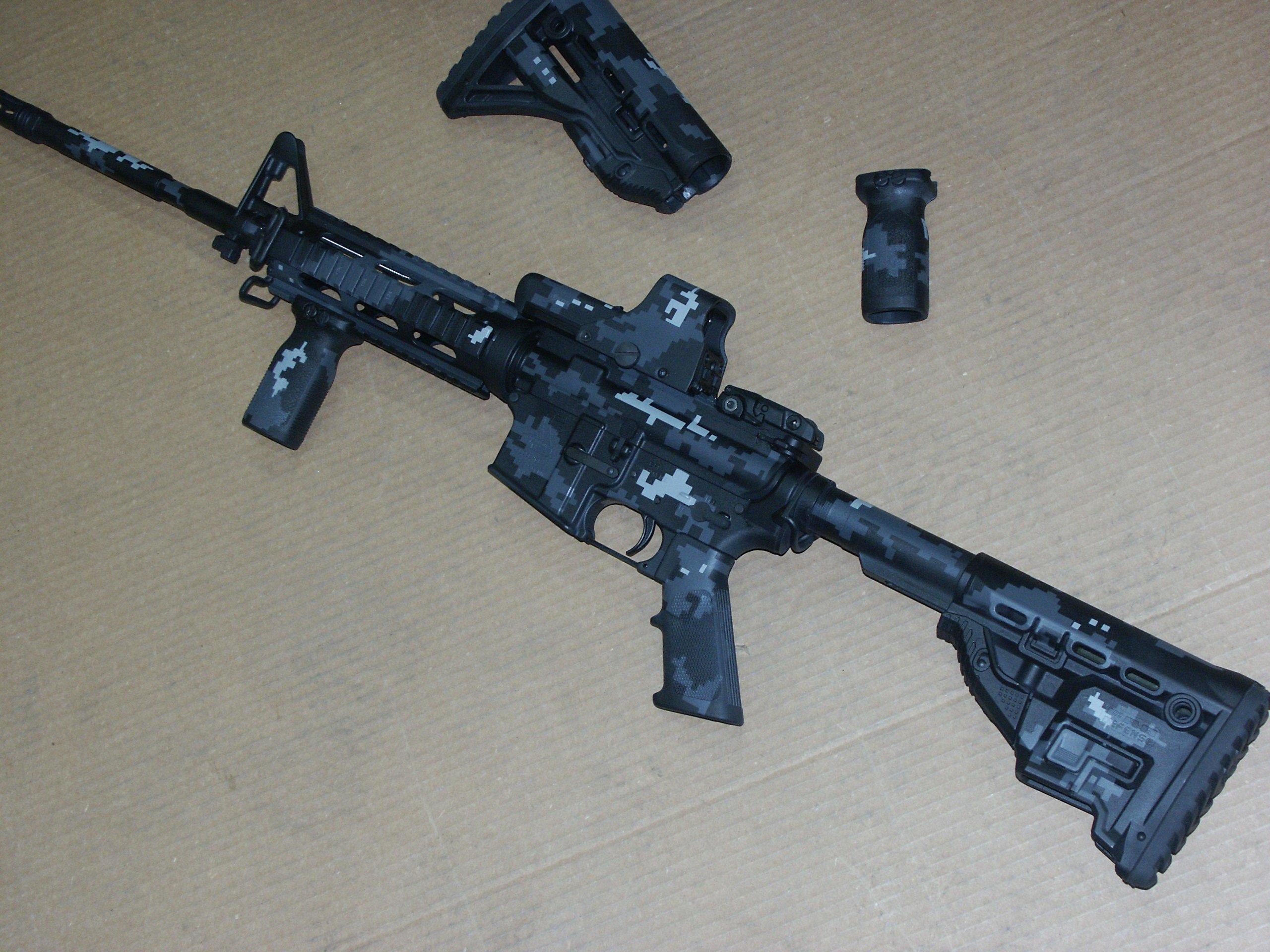 AR-15 Urban Digital Camouflage