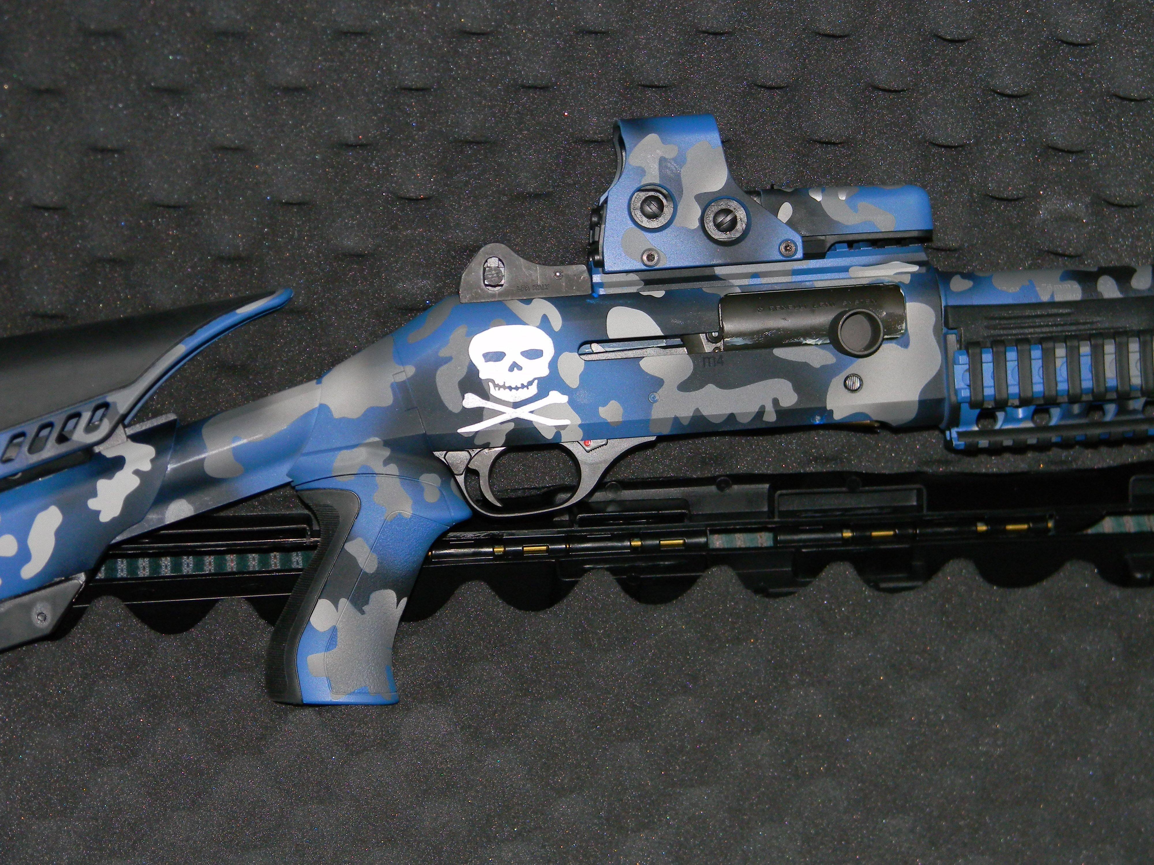 M4 Blue Camo