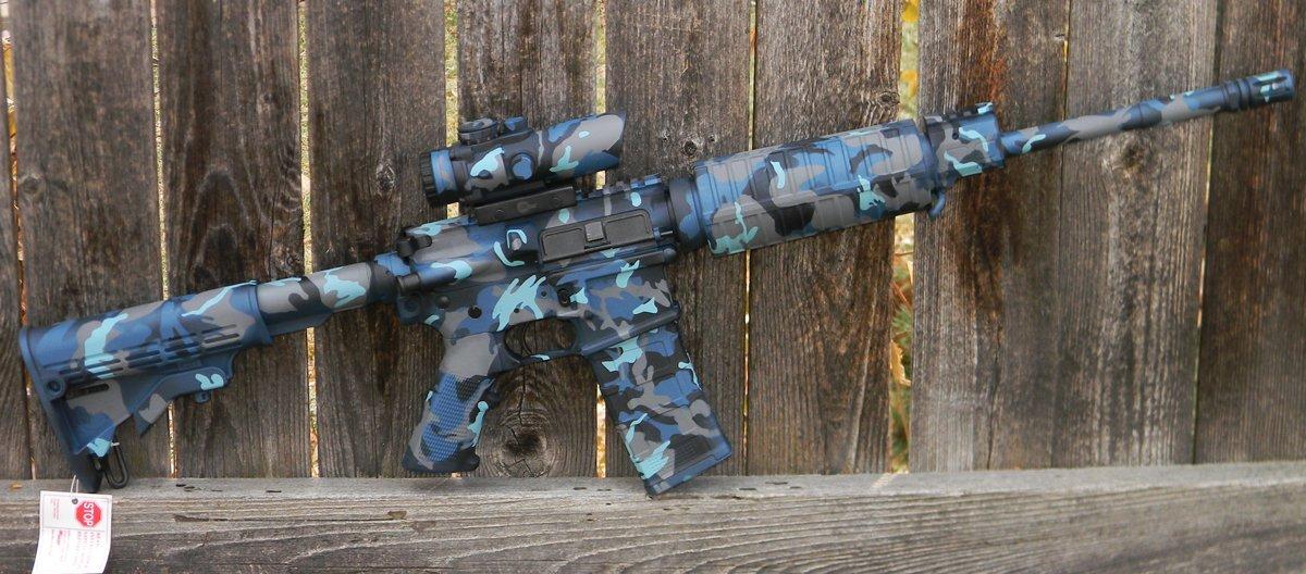 Woodland Style Navy Camouflage