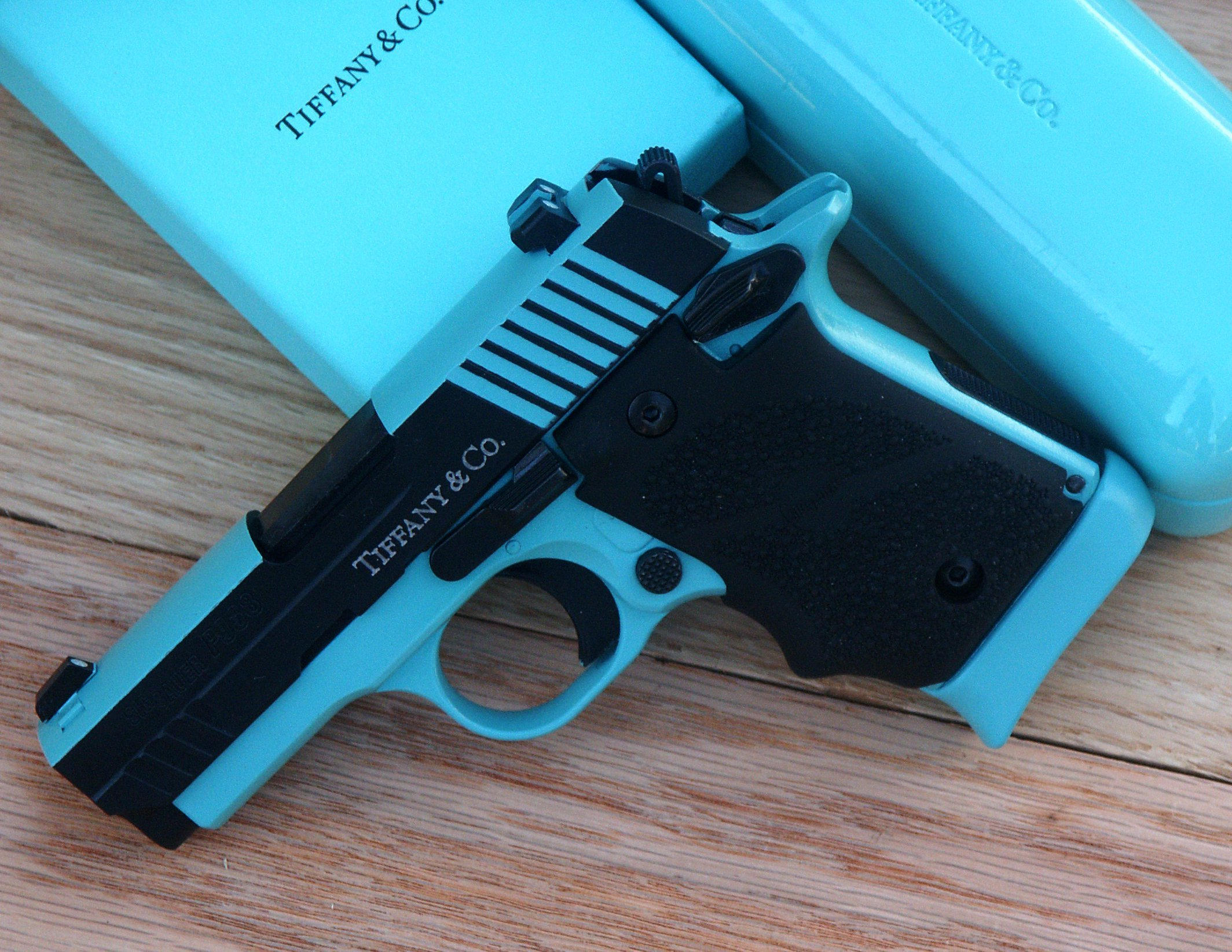 Tiffany Blue Gun Coating