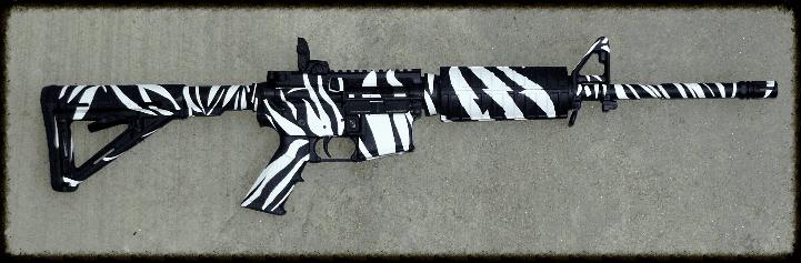 Wide Striped Zebra Pattern
