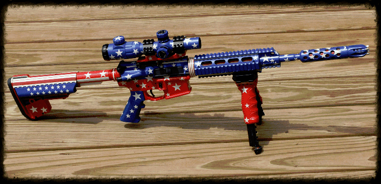 Starts and stripes AR15