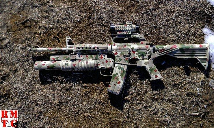 Bushmaster AR Flecktarn Camouflage