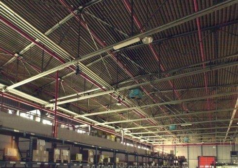 Impianto splinker ad umido posizionato a soffitto